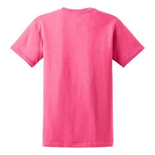 Custom Printed Gildan 5000 Heavy Cotton Unisex T-shirt - 53 - Back View | ThatShirt