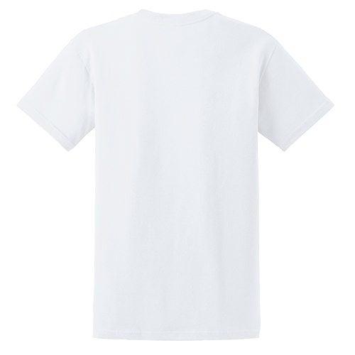 Custom Printed Gildan 5000 Heavy Cotton Unisex T-shirt - White - Back View | ThatShirt