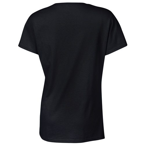 Custom Printed Gildan 5000L Ladies' Heavy Cotton Missy Fit T-Shirt - 3 - Back View | ThatShirt