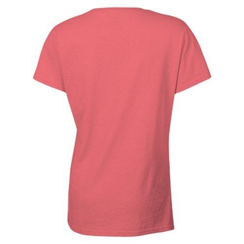 Custom Printed Gildan 5000L Ladies' Heavy Cotton Missy Fit T-Shirt - 7 - Back View | ThatShirt