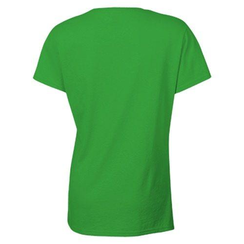 Custom Printed Gildan 5000L Ladies' Heavy Cotton Missy Fit T-Shirt - 12 - Back View   ThatShirt