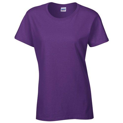 Custom Printed Gildan 5000L Ladies' Heavy Cotton Missy Fit T-Shirt - Front View | ThatShirt