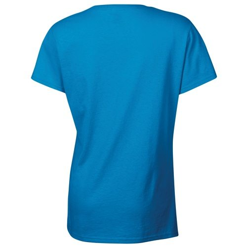 Custom Printed Gildan 5000L Ladies' Heavy Cotton Missy Fit T-Shirt - 20 - Back View | ThatShirt