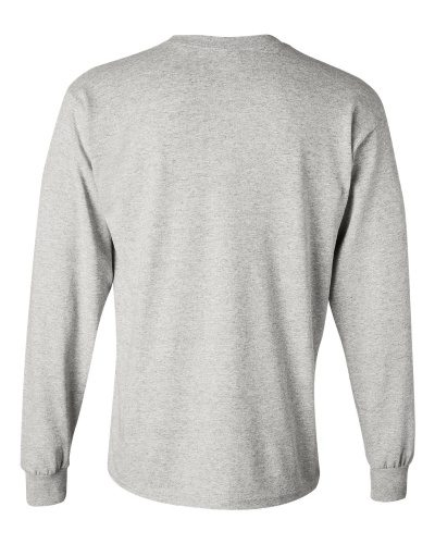 Custom Printed Gildan 5400 Heavy Cotton Long-Sleeve T-Shirt - 1 - Back View | ThatShirt