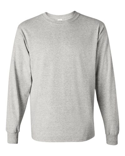 Custom Printed Gildan 5400 Heavy Cotton Long-Sleeve T-Shirt - Front View | ThatShirt