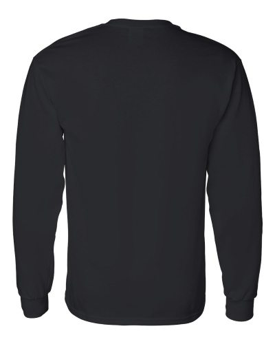 Custom Printed Gildan 5400 Heavy Cotton Long-Sleeve T-Shirt - 2 - Back View | ThatShirt