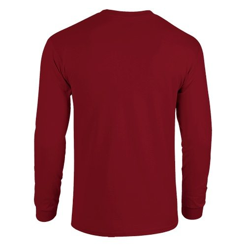 Custom Printed Gildan 5400 Heavy Cotton Long-Sleeve T-Shirt - 3 - Back View | ThatShirt