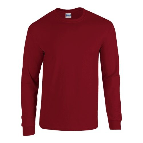 Custom Printed Gildan 5400 Heavy Cotton Long-Sleeve T-Shirt - Front View   ThatShirt