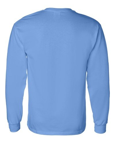 Custom Printed Gildan 5400 Heavy Cotton Long-Sleeve T-Shirt - 4 - Back View | ThatShirt