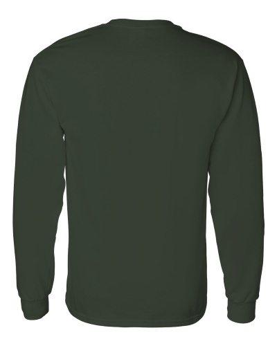 Custom Printed Gildan 5400 Heavy Cotton Long-Sleeve T-Shirt - 5 - Back View | ThatShirt
