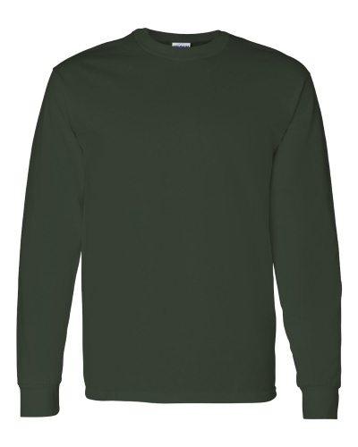 Custom Printed Gildan 5400 Heavy Cotton Long-Sleeve T-Shirt - Front View | ThatShirt