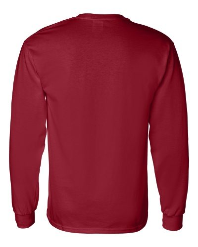 Custom Printed Gildan 5400 Heavy Cotton Long-Sleeve T-Shirt - 6 - Back View | ThatShirt