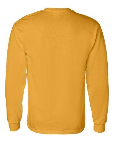 Custom Printed Gildan 5400 Heavy Cotton Long-Sleeve T-Shirt - 7 - Back View   ThatShirt