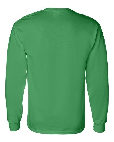 Custom Printed Gildan 5400 Heavy Cotton Long-Sleeve T-Shirt - 9 - Back View | ThatShirt