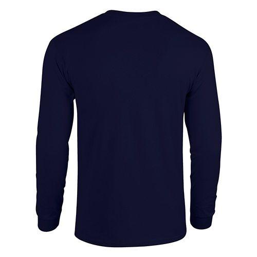 Custom Printed Gildan 5400 Heavy Cotton Long-Sleeve T-Shirt - 10 - Back View | ThatShirt