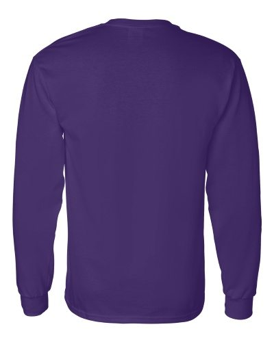 Custom Printed Gildan 5400 Heavy Cotton Long-Sleeve T-Shirt - 11 - Back View | ThatShirt