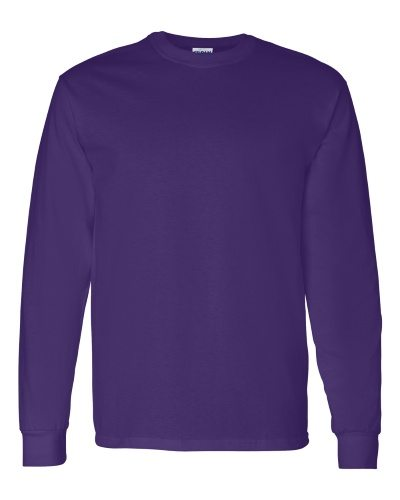 Custom Printed Gildan 5400 Heavy Cotton Long-Sleeve T-Shirt - 11 - Front View | ThatShirt