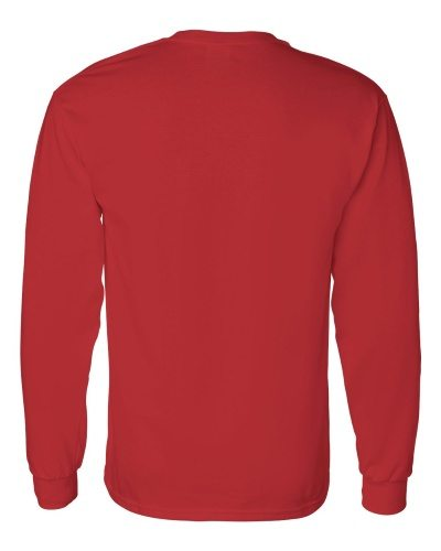 Custom Printed Gildan 5400 Heavy Cotton Long-Sleeve T-Shirt - 12 - Back View | ThatShirt