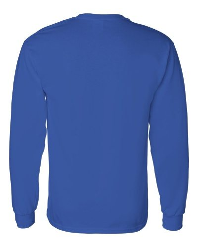 Custom Printed Gildan 5400 Heavy Cotton Long-Sleeve T-Shirt - 0 - Back View | ThatShirt