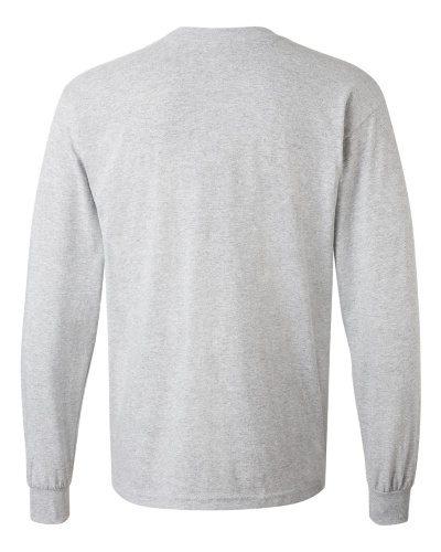 Custom Printed Gildan 5400 Heavy Cotton Long-Sleeve T-Shirt - 13 - Back View | ThatShirt