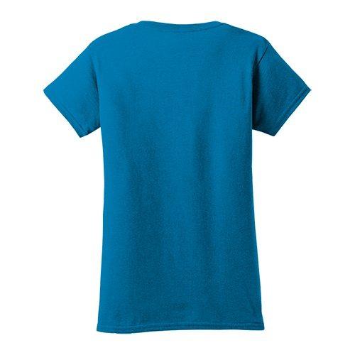 Custom Printed Gildan 640L Ladies SoftStyle Junior Fit T-Shirt - 1 - Back View | ThatShirt