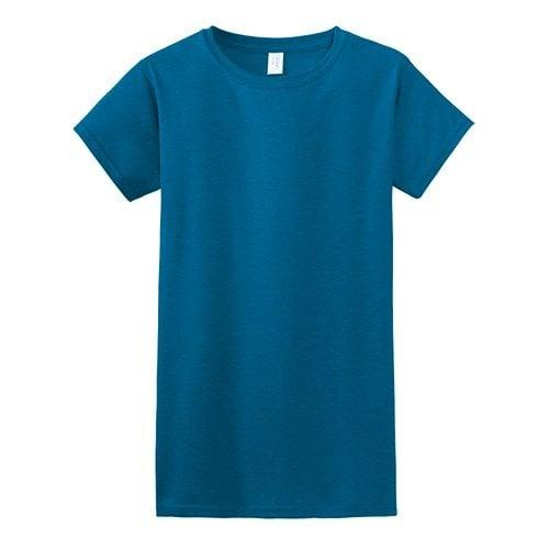 Custom Printed Gildan 640L Ladies SoftStyle Junior Fit T-Shirt - Front View | ThatShirt