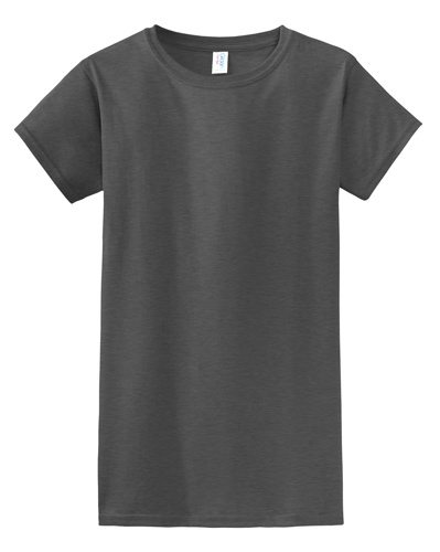Custom Printed Gildan 640L Ladies SoftStyle Junior Fit T-Shirt - Front View | ThatShirt