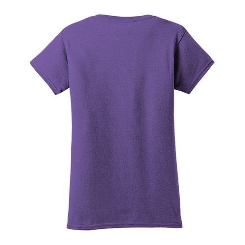 Custom Printed Gildan 640L Ladies SoftStyle Junior Fit T-Shirt - 5 - Back View   ThatShirt