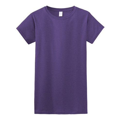 Custom Printed Gildan 640L Ladies SoftStyle Junior Fit T-Shirt - Front View   ThatShirt
