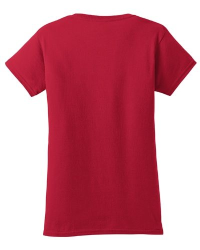 Custom Printed Gildan 640L Ladies SoftStyle Junior Fit T-Shirt - 7 - Back View | ThatShirt