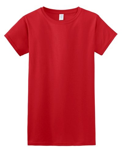 Custom Printed Gildan 640L Ladies SoftStyle Junior Fit T-Shirt - 7 - Front View | ThatShirt