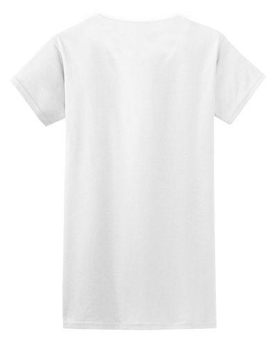 Custom Printed Gildan 640L Ladies SoftStyle Junior Fit T-Shirt - 10 - Back View | ThatShirt
