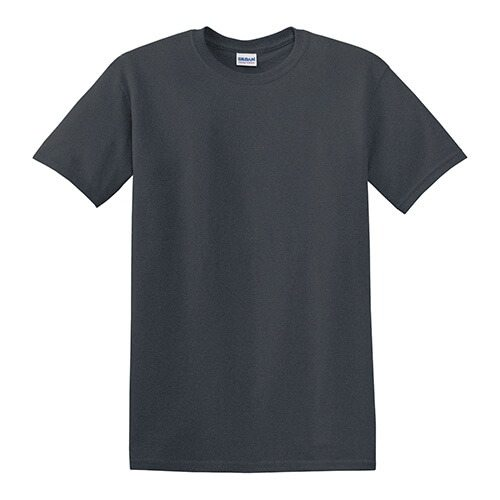 Custom Printed Gildan 8000 Dry Blend 50–50 T-Shirt - Dark Heather - Front View | ThatShirt