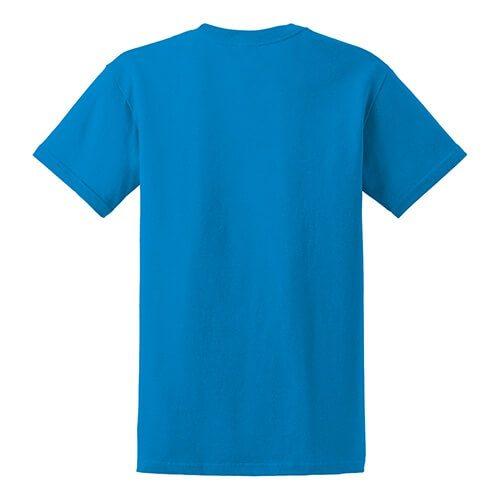 Custom Printed Gildan 8000 Dry Blend 50–50 T-Shirt - 25 - Back View   ThatShirt