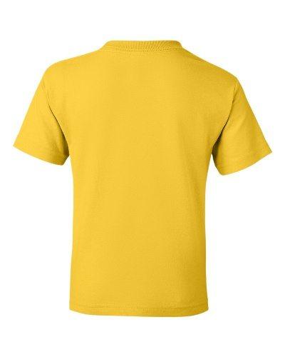 Custom Printed Gildan 800B Youth Dry Blend 50/50 T-Shirt - 5 - Back View   ThatShirt