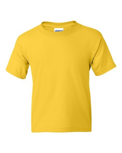 Custom Printed Gildan 800B Youth Dry Blend 50/50 T-Shirt - Front View   ThatShirt