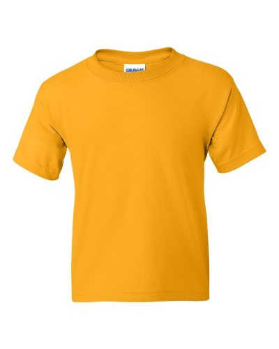 Custom Printed Gildan 800B Youth Dry Blend 50/50 T-Shirt - Front View | ThatShirt