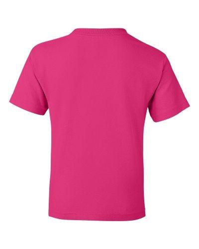 Custom Printed Gildan 800B Youth Dry Blend 50/50 T-Shirt - 11 - Back View | ThatShirt