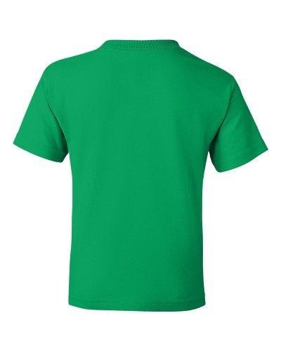 Custom Printed Gildan 800B Youth Dry Blend 50/50 T-Shirt - 12 - Back View   ThatShirt