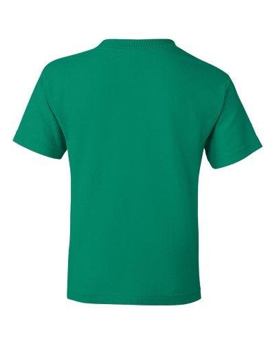 Custom Printed Gildan 800B Youth Dry Blend 50/50 T-Shirt - 14 - Back View   ThatShirt
