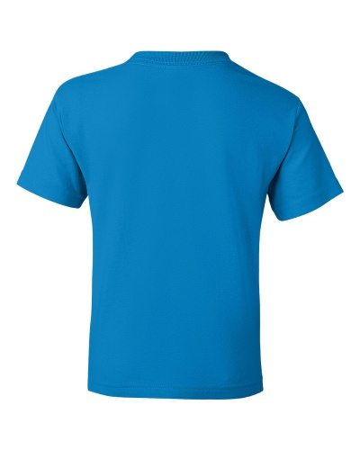 Custom Printed Gildan 800B Youth Dry Blend 50/50 T-Shirt - 22 - Back View | ThatShirt