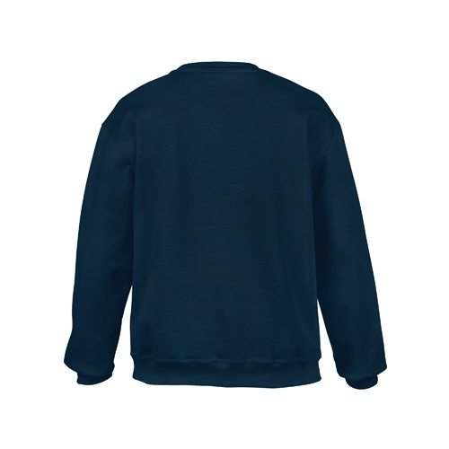 Custom Printed Gildan 92000 Premium Cotton Ring Spun Fleece Crewneck Sweater - 4 - Back View | ThatShirt