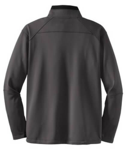 Custom Printed OGIO OG201 Premium Torque 1/4 Zip Pullover - Diesel Grey / Acid Green - Back View | ThatShirt