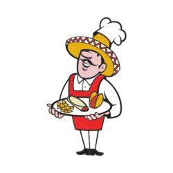 ThatShirt T-Shirt Clip Art - Bar & Restaurant - CHEF-MEXICAN-PLATE-TACOS_EPS10