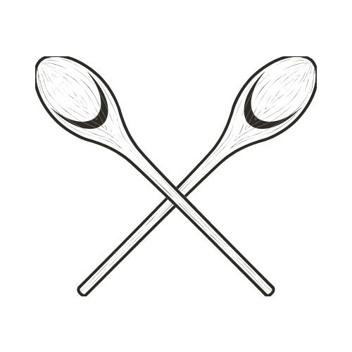 wooden spoon bw clip art get started at thatshirt rh thatshirt com Knife Clip Art Plastic Spoon Clip Art