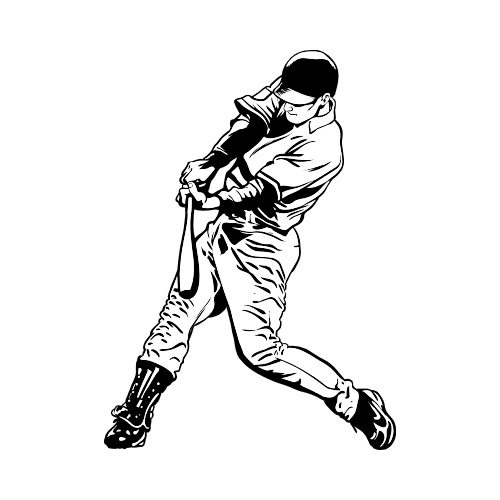 Baseball Player 9 Clip Art Get Started At Thatshirt