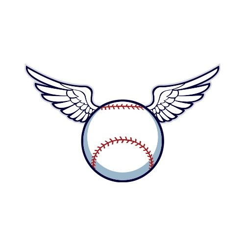 CAT 2-BASEBALL-WINGS Clip Art - Get Started At ThatShirt!