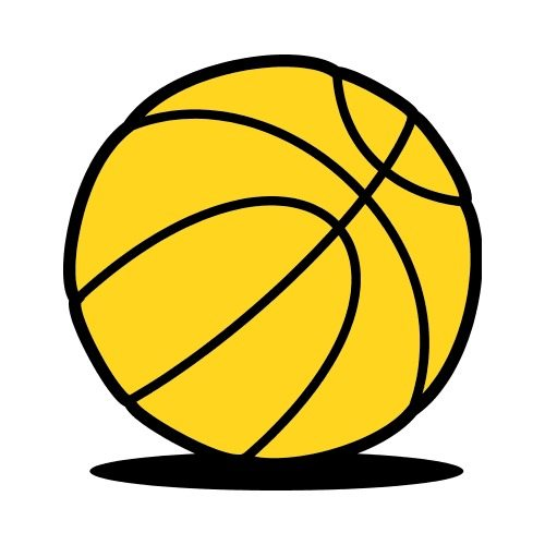 Hours Of Operation Clip Art : Basketball simple shadow clip art get started at thatshirt