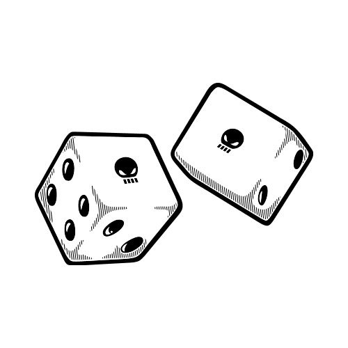 ES2DICE002BW Clip Art Get Started At ThatShirt