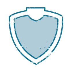 ThatShirt T-Shirt Clip Art - Collegiate - DISTRESSED_SHIELD_2
